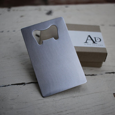 Laser Engraved Beer Bottle Opener, For Groomsmen, Custom Gift for IPA Lover, Personalized Wallet Card Insert, LGC10168