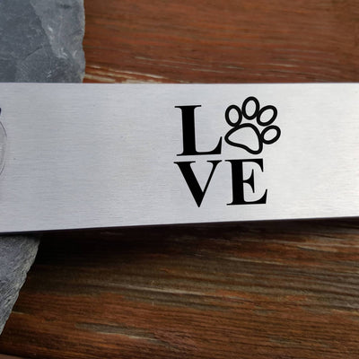 Laser Engraved Personalized Beer Bottle Opener, Dog Lover, Pet Owner, Housewarming for Him, Guy Gift for Her, Beer Lover, LGC10355
