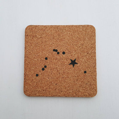 Laser Engraved Cork Coaster, Personalized Housewarming Gift, Constellations, Orion, Big Dipper, Little Dipper, Cassiopeia, LGC10265
