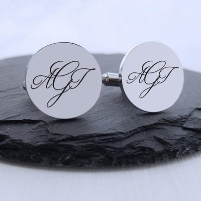 Laser Engraved Personalized Cuff links, Men's Monogrammed Cufflink, Custom  Gift for Him, Wedding Keepsake, LGC10202