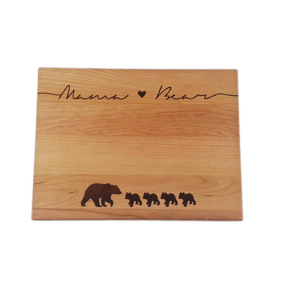 Laser Engraved Mama Bear Cutting Board, Gift for Mom, Personalized, Little Cubs, Mothers Day, LGC10121