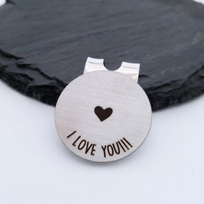 Laser Engraved Personalized Wedding Golf Ball Marker, Custom, For Husband or Boyfriend, LGC10221