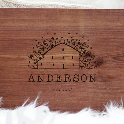 Laser Engraved Cute Cutting Board, Personalized Name, Handmade Wedding Gift for Couple, Artisan Present for Him or Her, For Chefs, LGC10502
