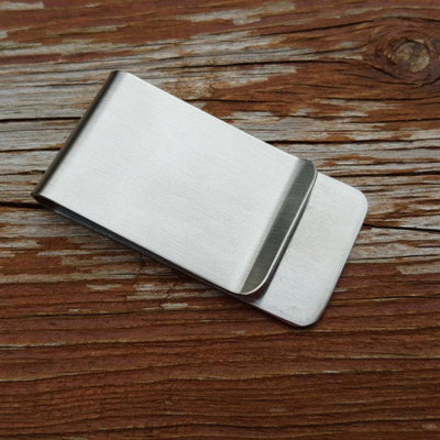 Laser Engraved Grandpa Gift, Personalized Stainless Money Clip, Custom Monogram or Initials, For Father in Law,  LGC10306