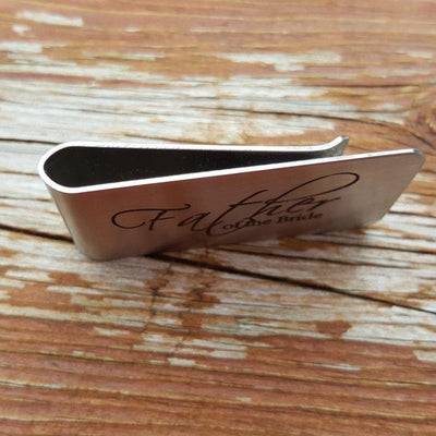 Laser Engraved Personalized Money Clip, Funny Saying, Custom Initial or Name on Father of the Bride Gift FOTB Gift, LGC10452
