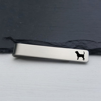 Laser Engraved Mens Tie Bar, Beagle, Personalized Gifts, Custom Clip, For Him, Wedding Keepsake, Pet Lover Gift, LGC10537