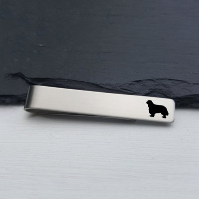 Mens Tie Bar, Cavalier King Charles Spaniel, Personalized Gifts, Custom Clip, For Him, Wedding Keepsake, Pet Lover Gift, LGC10528
