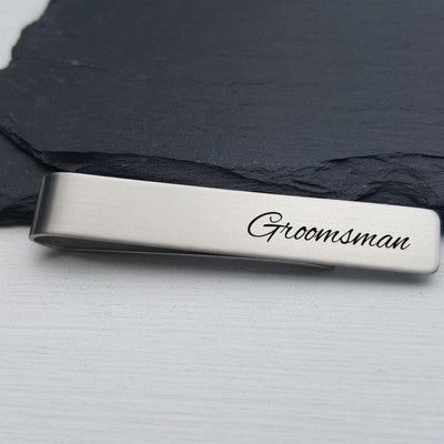 Laser Engraved Mens Tie Bar, Personalized Gifts, Groomsmen Gift, Custom Clip, For Him, Wedding Keepsake, LGC10131