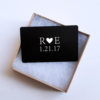 Laser Engraved Custom Wallet Insert Card, Metal, Personalized, Gift for Him, Gifts for Men, Wedding Keepsake, LGC10241