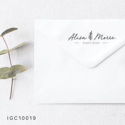 Modern Return Address Stamp, Personalized Gift, Wedding Invitation, Pre Inked, Self Inking, RSVP Label, Couple Gifts, IGC10019