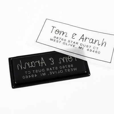Return Address Stamp, Personalized Gift, Wedding Invitation, Pre Inked, Self Inking, RSVP Label, Couple Gifts, IGC10022