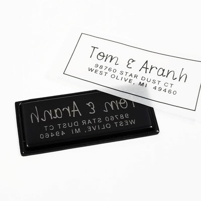 Return Address Stamp, Personalized Gift, Wedding Invitation, Pre Inked, Self Inking, RSVP Label, Couple Gifts, For New Home IGC10013