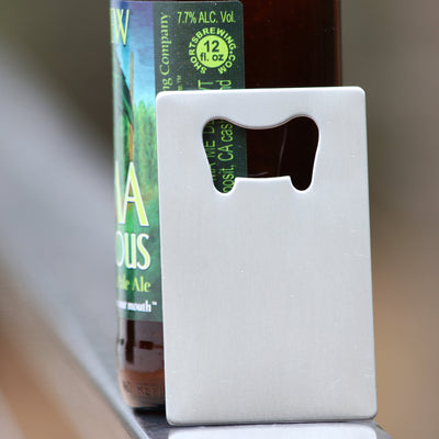 Laser Engraved Personalized Beer Bottle Opener, Wedding Couple Gift, Custom Name, Wallet Card Insert, Gift for Him and Her, LGC10177