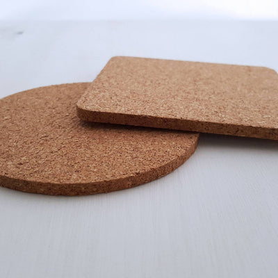 Laser Engraved Single Custom Cork Coaster, For Couple, Laser-, Personalized Wedding Gift, Housewarming Present, LGC10272
