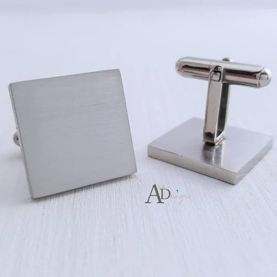 Laser Engraved Personalized Wedding Cufflinks,Mens, Stainless Steel, Custom  Square Cuff links, Gifts for Him, LGC10185