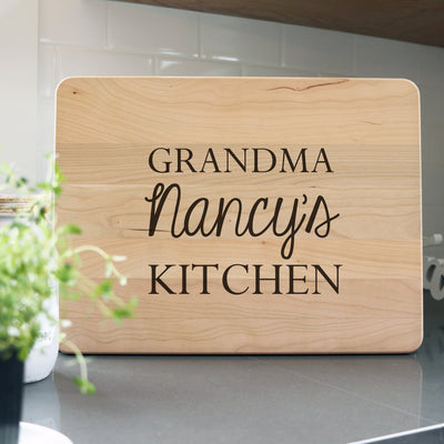 Laser Engraved Personalized Cutting Board, Custom Grandma Gift, Name,  Charcuterie Block for Cook, LGC10540