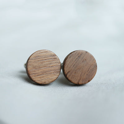 Laser Engraved Personalized Cufflinks, Wood, Wedding Date, Custom Initials, Cuff links, Gifts for Men, Gift for Him, TBC10035
