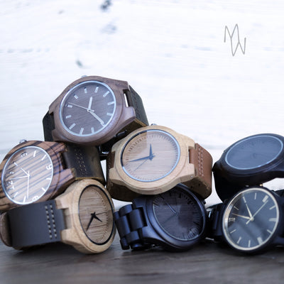 Laser Engraved Personalized Watch, Gift for Dad, Mama Bear, Papa Bear, Father's Day Gift, Wooden Jewelry, For Him, For Men, LGC10099