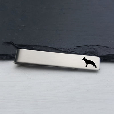Laser Engraved Mens Tie Bar, German Shepherd, Personalized Gifts, Custom Clip, For Him, Wedding Keepsake, Pet Lover Gift, LGC10522