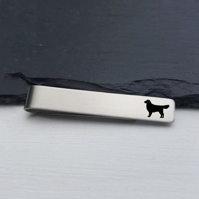 Laser Engraved Mens Tie Bar, Golden Retriever, Personalized Gifts, Custom Clip, For Him, Wedding Keepsake, Pet Lover Gift, LGC10521