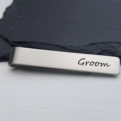 Laser Engraved Men's Tie Bar, Personalized Gifts, Groom Gift, Custom Clip, For Him, Wedding Keepsake, For Groomsmen, LGC10127