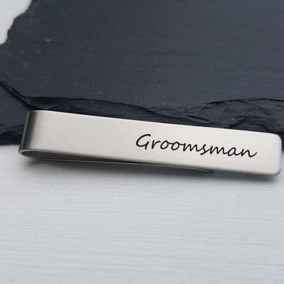 Laser Engraved Mens Tie Bar, Personalized Gifts, Groomsmen Gift, Custom Clip, For Him, Wedding Keepsake, LGC10130