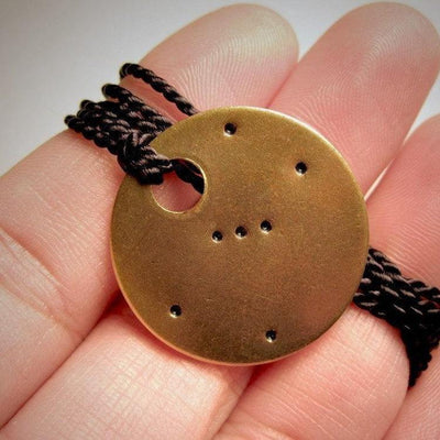 Laser Engraved Orion Necklace, Constellation, Brass Tag, Dainty Pendant, Charm Bracelet, Bookmark, Gift for Her, LGC10159