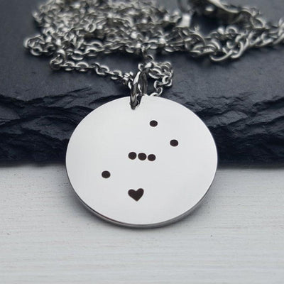 Laser Engraved Orion Necklace, Constellation, Stainless Tag, Dainty Pendant, Charm Bracelet, Bookmark, Gift for Her, LGC10161