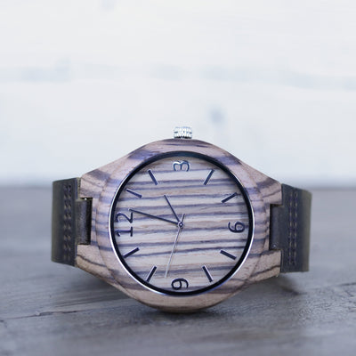 Laser Engraved Custom Wooden Watch, Personalized Gift, Bamboo, For Men Who Have Everything, Leather, Wedding Gifts, TBC10041