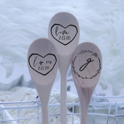 Laser Engraved Personalized Spoon, Custom Gift for Couple, Initials, Wedding Gift for Him and Her, For Men or Women, LGC10556