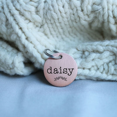 Round Pet Gift, Personalized Pet Tag, Laser Engraved Dog Tag for Dog, Cat Collar Tag, Double-sided