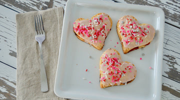 Maple & Cherry Homemade Heart Pop Tarts