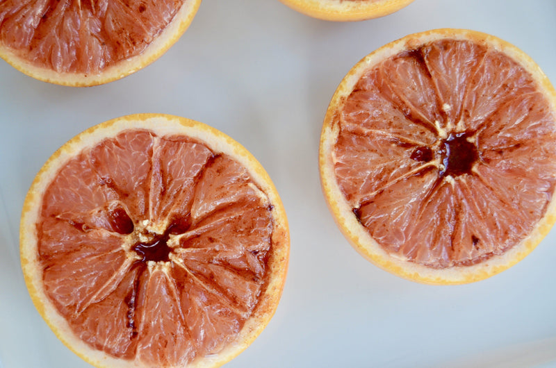 Broiled Maple Grapefruit