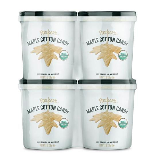 Value 4-Pack: Organic Maple Cotton Candy