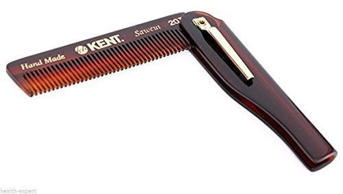 KENT 20T Handmade  folding pocket comb - the PROMINENT