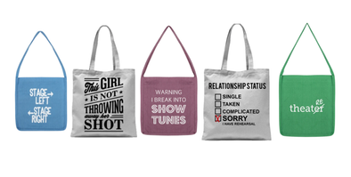 Fashion Line UPDATE:  We've totes got TOTES! Totes for all Broadway Fans