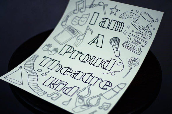 Thespian Nerd Pride Coloring Pages