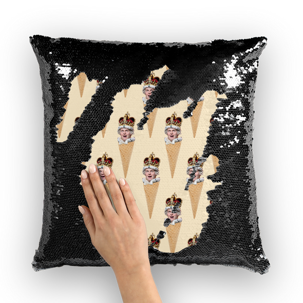 Groffle Sequin Cushion Cover