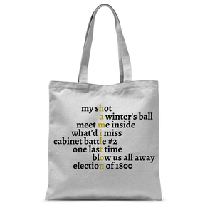 Hamilton Songs Tote Bag