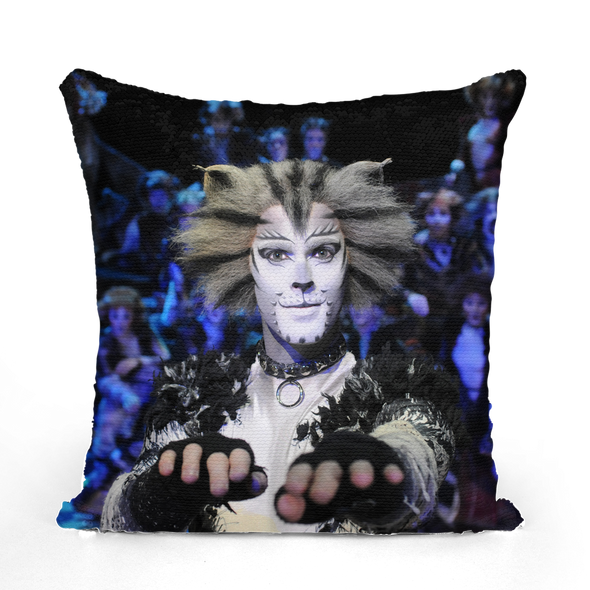 CATS Surprise Sequin Cushion Cover