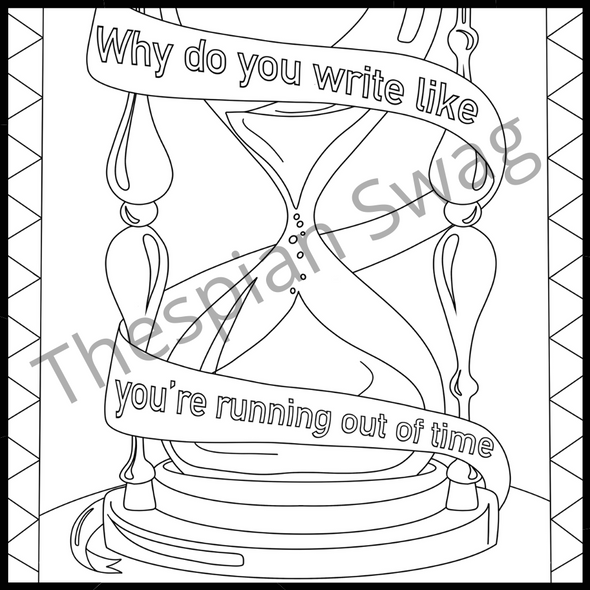 Hamilton Inspired Coloring Pages- Set Two