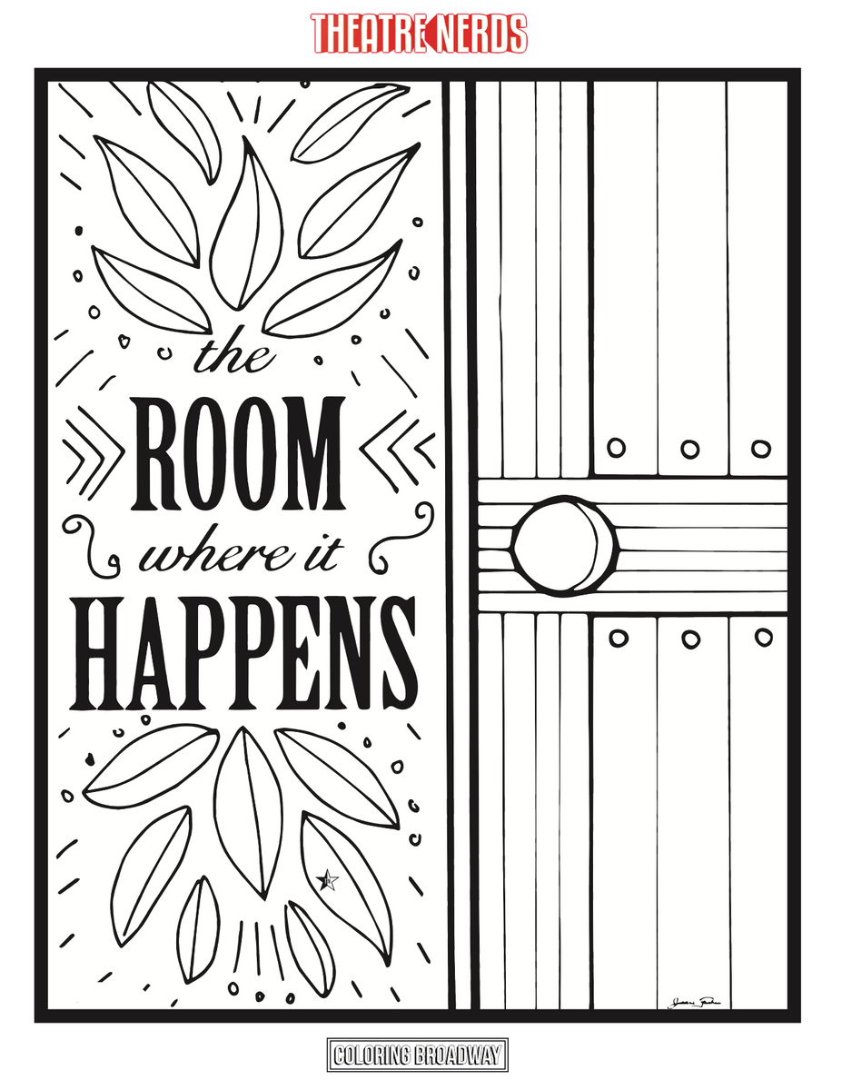 Hamilton Coloring Pages (4pck) - Thespian Swag