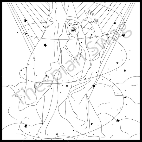 Wicked Themed Coloring Pages
