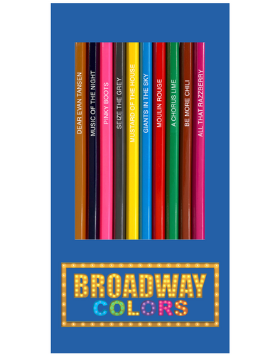 Broadway colors pencils