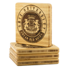 Shiz University Bamboo Coaster Set