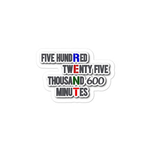 525600 Minutes Rent Sticker