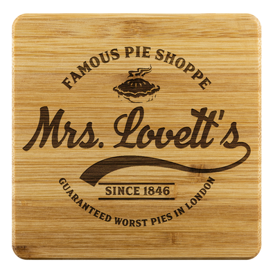 Mrs. Lovett's Bamboo Coaster Set