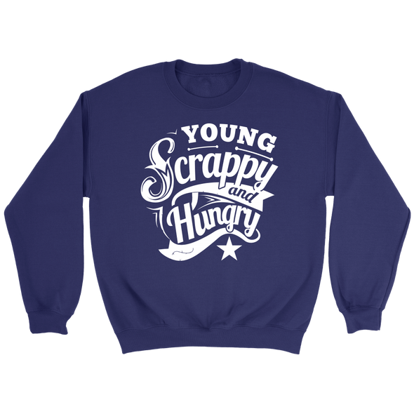 Young Scrappy & Hungry Crew Sweatshirt