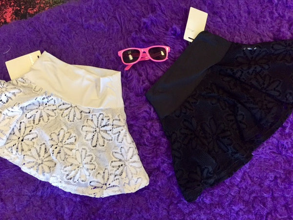 Planet Sea Black Mesh Swim Skirt - JEN'S KIDS BOUTIQUE