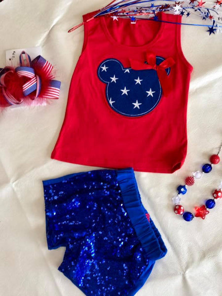 Princess 4th Of July Minnie Top - JEN'S KIDS BOUTIQUE